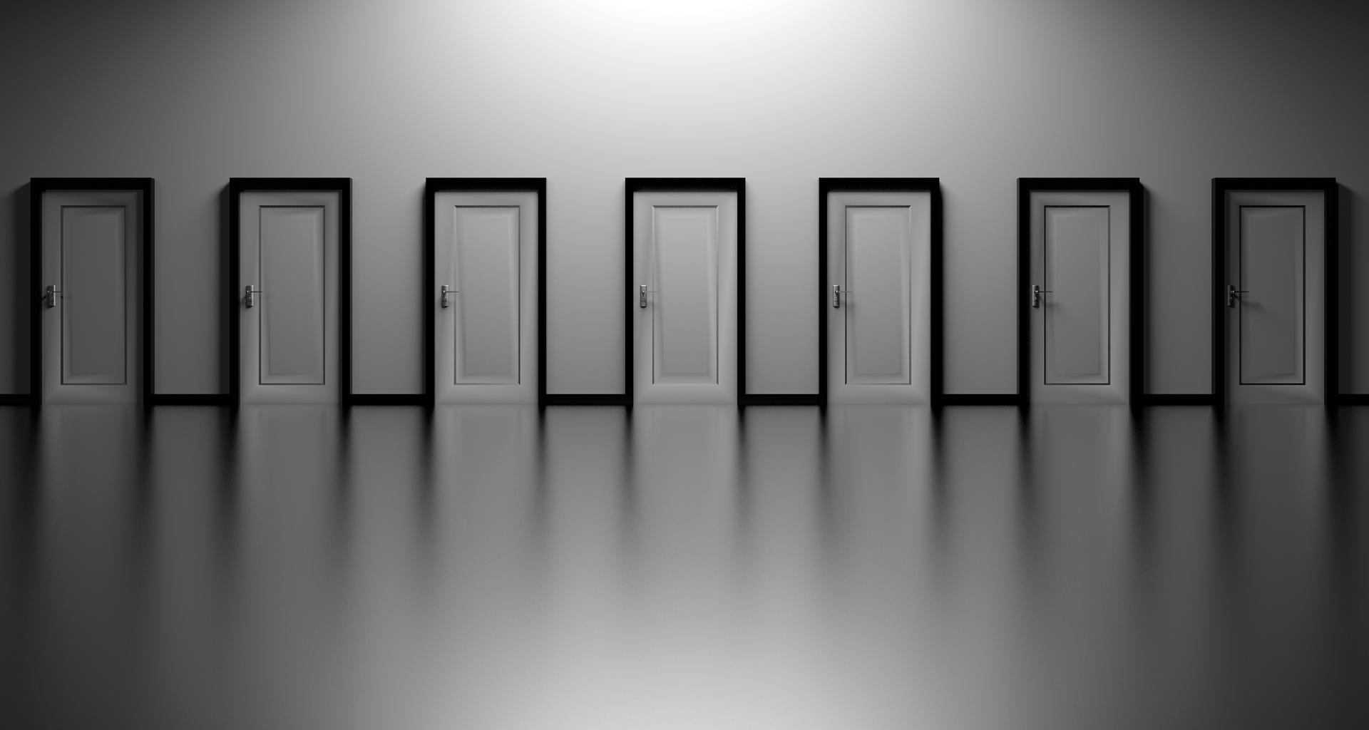 Row of doors.